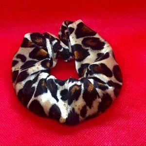 Accessories - Trending Velvet Leopard Print Scrunchie